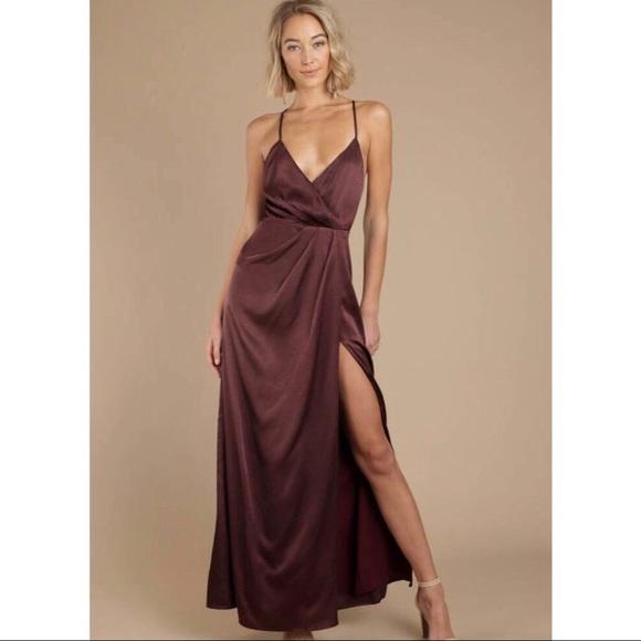 Tobi satin wrap dress maxi formal dress b232029bc